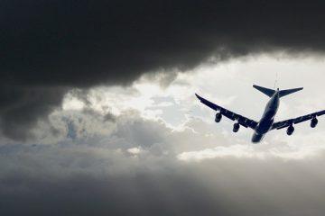 Aircraft Approach Landing Sky