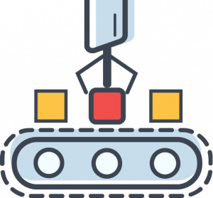 autonomous production line icon